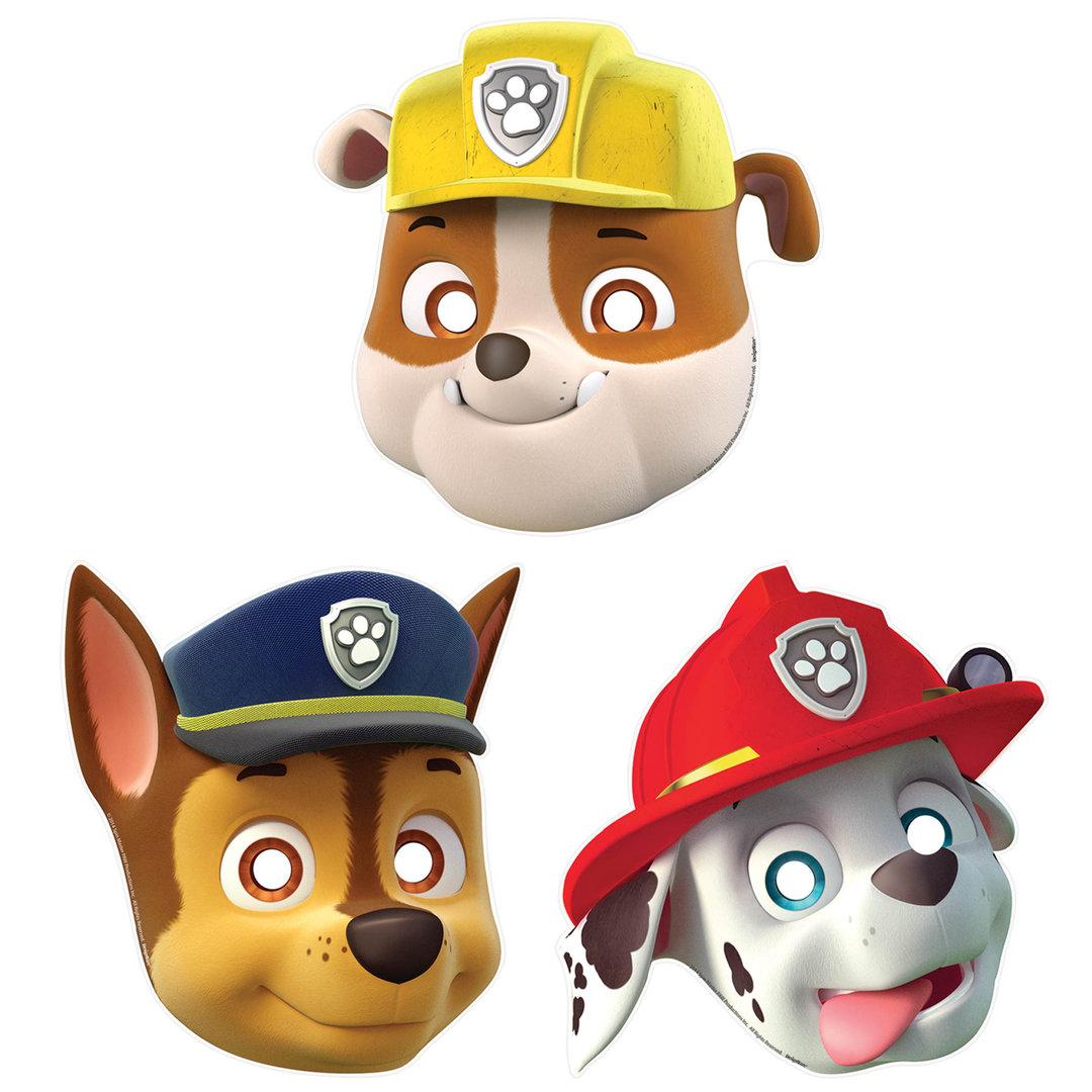 Как сделать из бумаги маску щенячий патруль 109